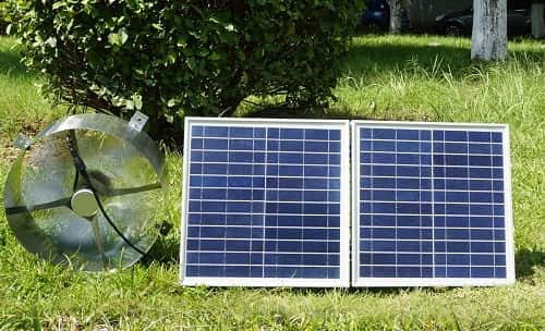 ECO-WORTHY 25W Solar Powered Attic Ventilator Gable Roof Vent Fan