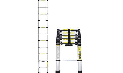 Idealchoiceproduct 10.5 FT Aluminium Telescopic Telescoping Ladder