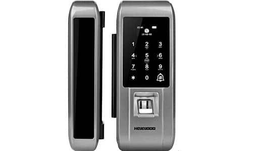 Qukidy Digital Glass Door Lock Fingerprint Password Door Lock