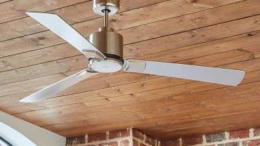 Rivet Modern Flush Mount Ceiling Fan